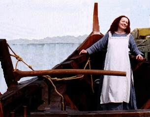 Elinor aboard the Snorri